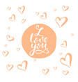 love lettering card vector image