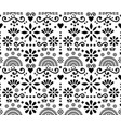 mexican folk art floral seamless pattern vector image vector image