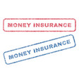 money insurance textile stamps vector image vector image