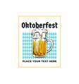 oktoberfest retro poster munich beer festival vector image