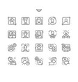 people avatar well-crafted thin line icons vector image vector image