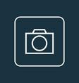 photo apparatus icon line symbol premium quality vector image vector image