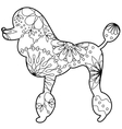 poodle coloringilhouette vector image vector image