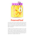preserved food pineapple vector image