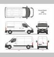 renault master cargo delivery van l2h2 2014-2019 vector image vector image