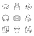 Repairs icons set outline style vector image vector image