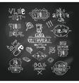 Restaurant label chalkboard vector image vector image