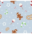 Retro style Christmas pattern Winter background vector image vector image
