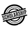 scholarship rubber stamp vector image