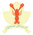 sea food label lobster logo on isolated background vector image vector image