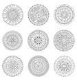 Set of circles logo design doodle elements vector image vector image