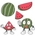 set of watermelon vector image vector image