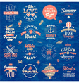 set travel and summer vacation type design vector image