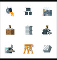 simple set metal production and metalworking vector image vector image