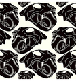 Skull animal seamless pattern vector image vector image