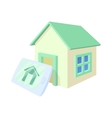 Smart home icon cartoon style vector image vector image