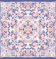 squared ornamental damask pattern vector image vector image