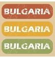 Vintage Bulgaria stamp set vector image vector image