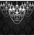 Vintage dark background with chandeliers vector image