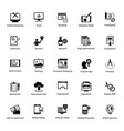 web and graphic designing glyph icons set 6 vector image vector image