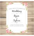 wedding invitation with pink roses vanilla backgro vector image vector image