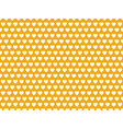 white hearts on yellow background pattern vector image vector image