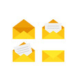 yellow envelope vector image