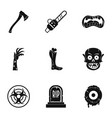 zombie icon set simple style vector image vector image