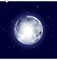 full moon halloween background vector image