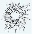 Background broken glass vector image