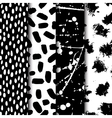 seamless modern ink pattern set Messy ink vector image