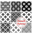 damask seamless pattern set with floral arabesque vector image