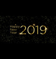 2019 new year greeting card vector image vector image