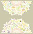 abstract seamless floral mandala pattern vector image vector image