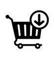 add to cart icon vector image