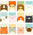 Banner background with cute cats vector image