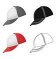 baseball cap baseball single icon in cartoon vector image vector image