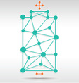 Battery Network vector image vector image