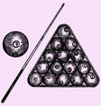 billiard vector image