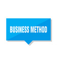 business method price tag vector image vector image