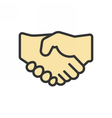 Business Partnership Icon vector image vector image