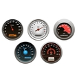 Car speedometers set vector image vector image