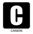 carbon symbol vector image vector image
