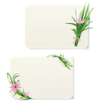 Card with grass and flowers vector image vector image