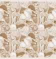 cartoon fast food and drinks seamless pattern vector image vector image