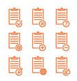 check list icons line design vector image vector image