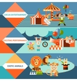 Circus icons flat banner set vector image vector image