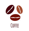 coffee beans icon simple flat vector image vector image
