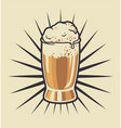 color beer glass vector image vector image