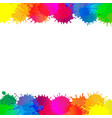 colorful stain borders vector image vector image
